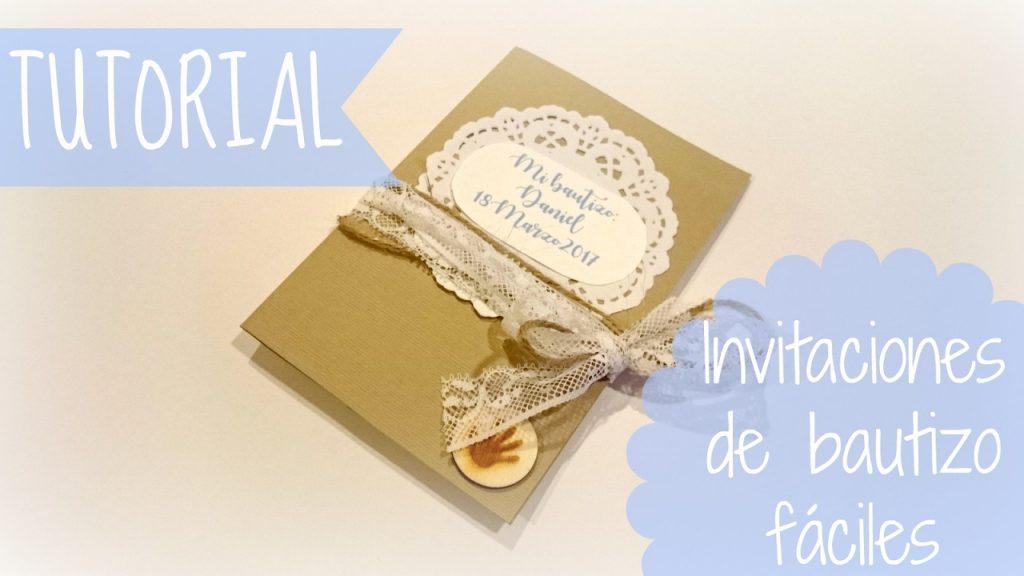 Invitación para bautizo - Scrapbook